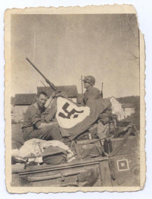 Dad's Captured Nazi Flag