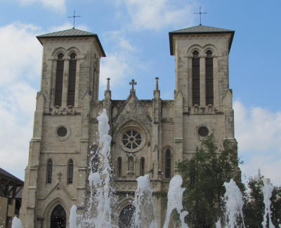 San Fernando Cathedral fountains